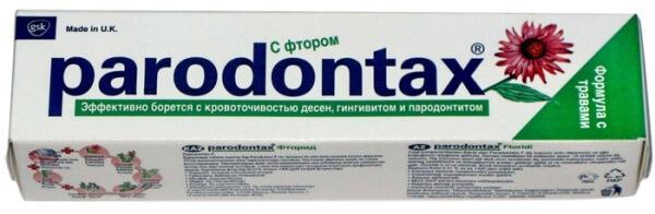 зубная паста пародонтакс с фтором