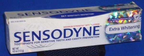качественная зубная паста сенсодин Экстра отбеливание
