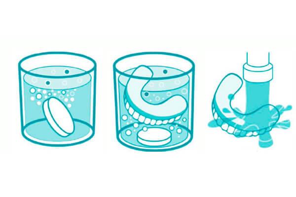 как применять таблетки для дезинфекции протезов