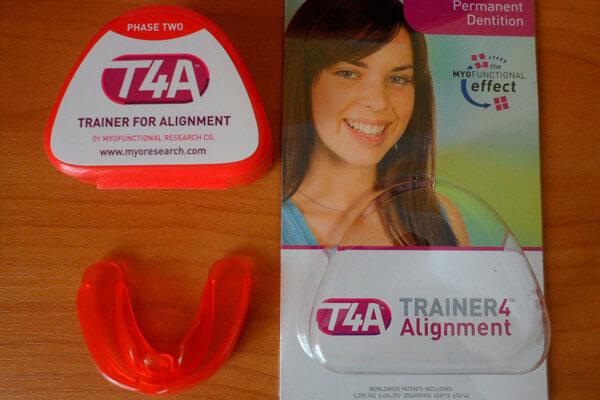 розовый ортодонтический трейнер