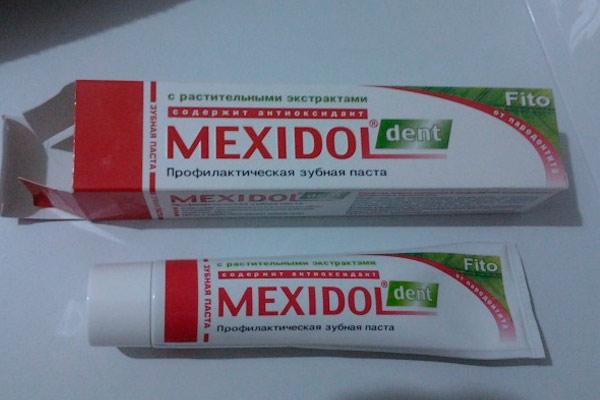 зубная паста мексидол фито дент
