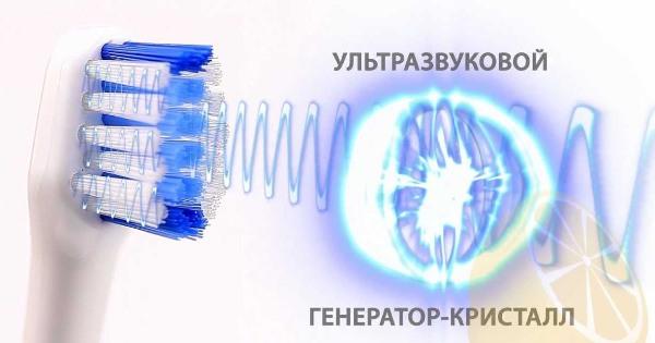 Комплектация ультразвуковой зубной щетки Megasonex